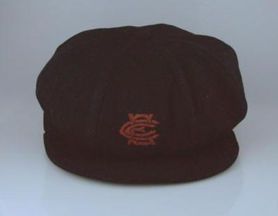 Cap worn by W J Horrocks, Essendon Cricket Club