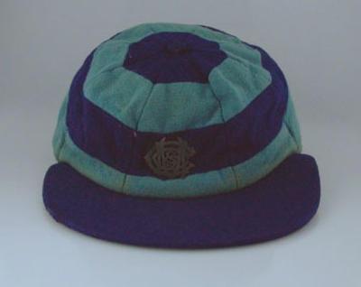 "McConchie Cricket Club cap, emblem ""McCSCC"",  c1908-37"