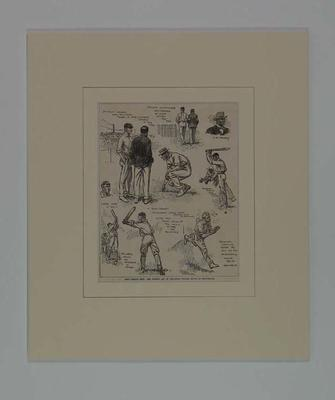 """Print, """"Test Number Four: The Opening Day of the Great Cricket Match at Manchester"""" 1905"""