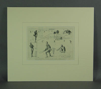 """Print, """"Hindoo Cricketers - Sketches at Hog Island, Bombay Harbour"""""""