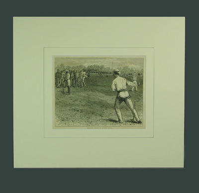 "Print, ""Practising for the All England Match"" - 1874"