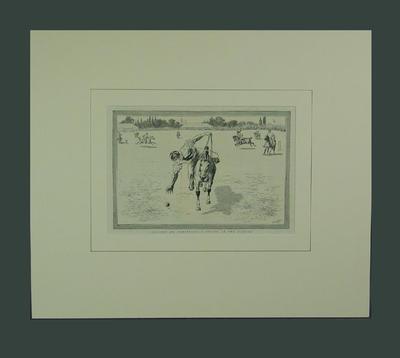 "Print, ""Cricket on Horseback - A Vision of the Future"""