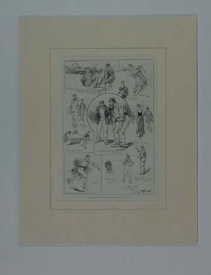 """Print, """"THE FINAL CRICKET MATCH BETWEEN ENGLAND AND AUSTRALIA AT THE OVAL"""" - 1896"""