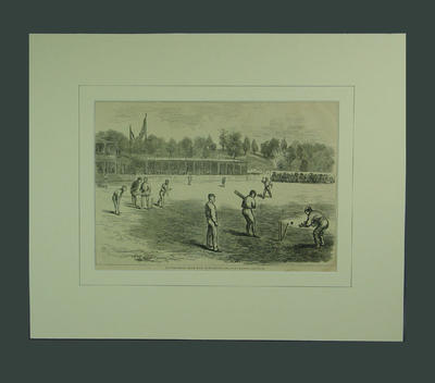"Print, ""The International Cricket Match at Philadelphia"" - 1879"