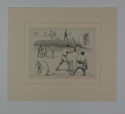 """Print, """"ENGLAND V THE AUSTRALIANS AT LORDS"""" - 1896"""