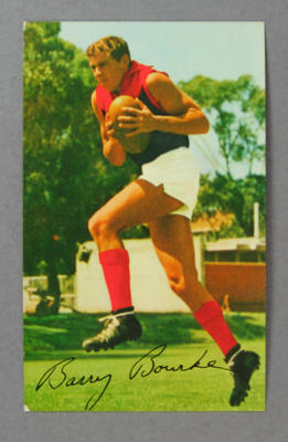 1965 Mobil Footy Photos Barry Bourke trade card