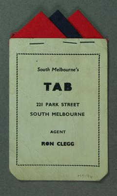Pocket insert, Melbourne FC colours