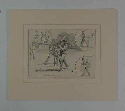 """Print, """"The Australian Cricketers at Sheffield Park"""" - 1896"""