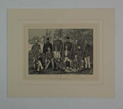 "Print, ""The Australian Eleven of 1880""; Artwork; M9040"