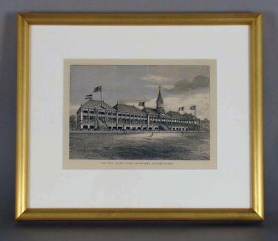 "Print, ""THE NEW GRAND STAND, MELBOURNE CRICKET GROUND"" - 1877"