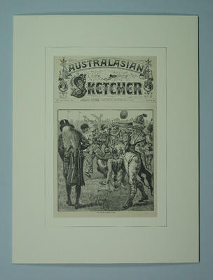 "Print, ""The Costume Football Match"" - 1881"