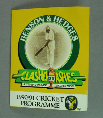 "Fixture, ""Clashes for the Ashes Australia v England Test Series 1990/91"""