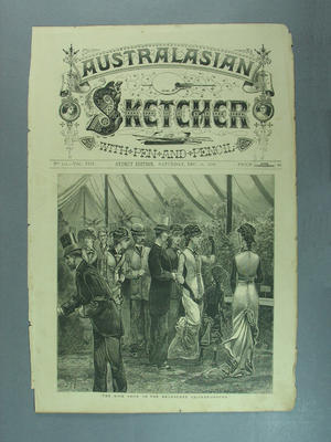 """Print, """"The Rose Show on the Melbourne Cricket Ground""""; Artwork; Documents and books; M9045"""