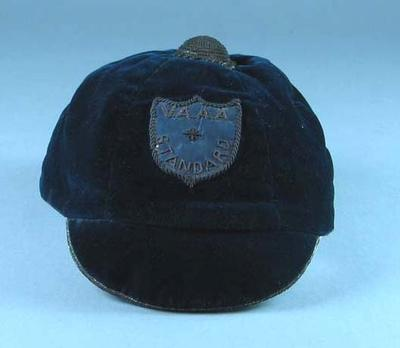 Victorian Amateur Athletics Association cap, worn by Corrie Gardner c1900s