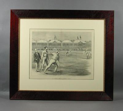 "Print, ""MELBOURNE CRICKET GROUND, PLAY!""; Artwork; Framed; M9059"
