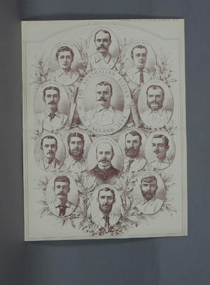 "Print, ""The Australian Eleven in England 1882""; Artwork; M9061"
