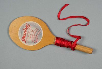 Wooden tennis ball holder, 1961 Davis Cup