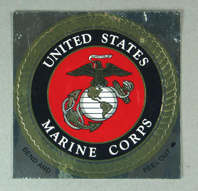 Sticker, United States Marine Corps; Games and toys; M9067.2