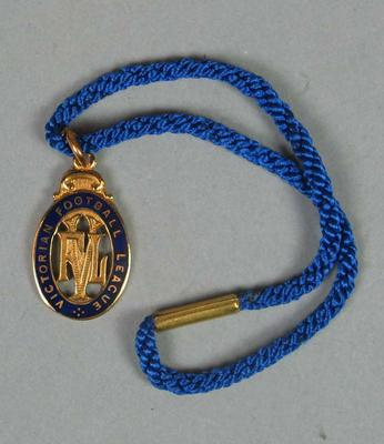 VFL Life Membership medallion, awarded to Jack Elder