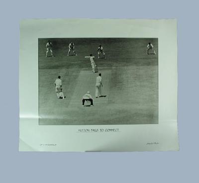 "Photograph, ""Hutton fails to connect""; Artwork; M9410"