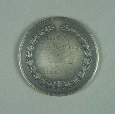 Silver medal - T M Ferguson Memorial Trophy awarded to Brian Dixon May 1955