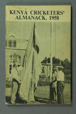 """Booklet, """"Kenya Cricketers' Almanack 1958"""""""