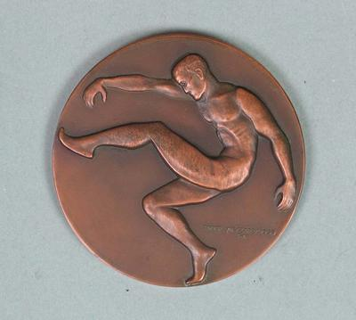 1964 VFL Premiership  Medal awarded to Brian Dixon of Melbourne Football Club.