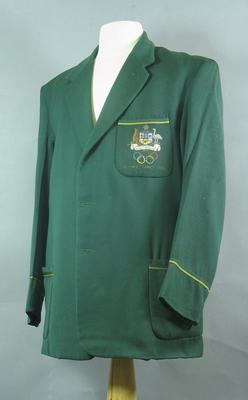 Blazer - Australian Team Blazer worn my Jack Newman 1924 Olympic Games