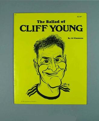 """Booklet, """"The Ballad of Cliff Young"""" c1983"""