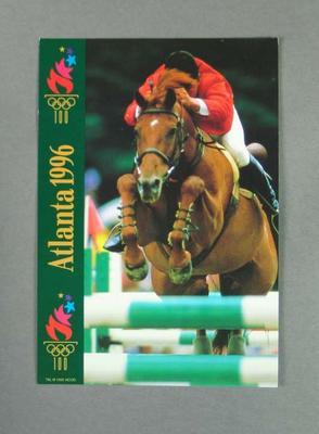 Postcard, 1996 Atlanta Olympic Games equestrian events