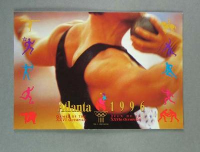 Postcard, 1996 Atlanta Olympic Games field events