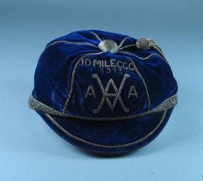 Cap, VAAA Ten Mile Cross-country Championship 1913; Clothing or accessories; 1990.2338