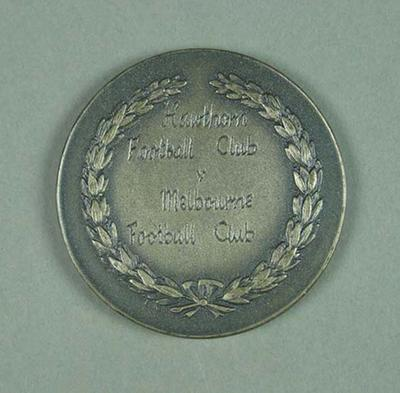 Silver medal - T M Ferguson Memorial Trophy 1955 - awarded to Brian Dixon; Trophies and awards; 1987.1607