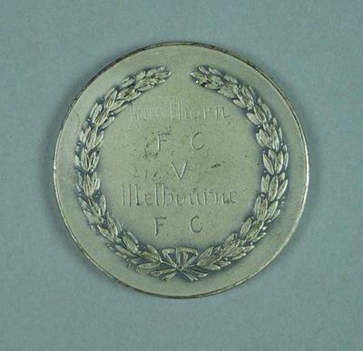 Silver medal - T M Ferguson Memorial Trophy 1958 - awarded to Brian Dixon