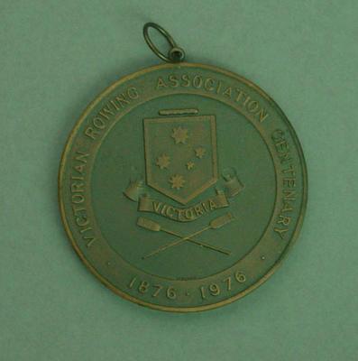 Medal, Victorian Rowing Association Centenary Regatta Senior Coxed Four 1976