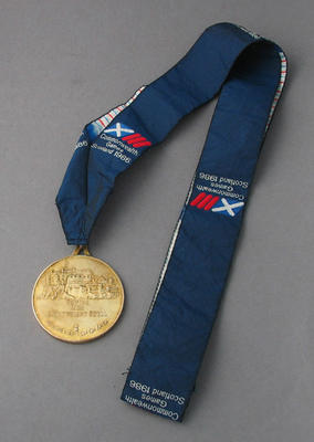Gold medal won by Peter Antonie for men's lightweight scull, 1986 Commonwealth Games
