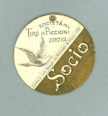 Identification card used by Donald Mackintosh, c1904