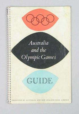 Guide book, Australia and the Olympic Games 1956; Documents and books; 1992.2621.5