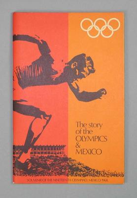 "Book, ""The Story of the Olympics & Mexico"" 1968"