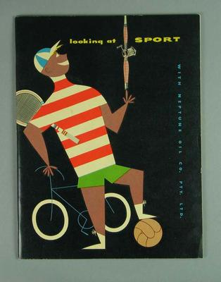 "Magazine, ""Looking at sport with Neptune Oil Co Pty Ltd"" c1956"