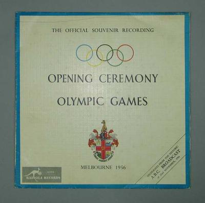 Vinyl record - 1956 Melbourne Olympic Games Opening Ceremony