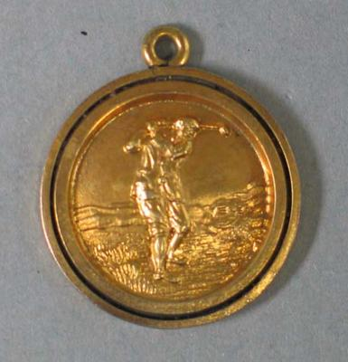 Golf tournament medal, awarded to E Baster by SGC - 1927