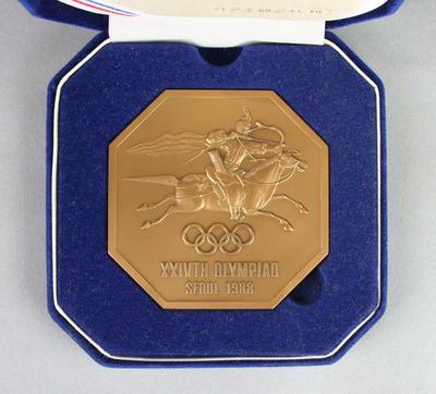 Presentation case for medal, 1988 Seoul Olympic Games