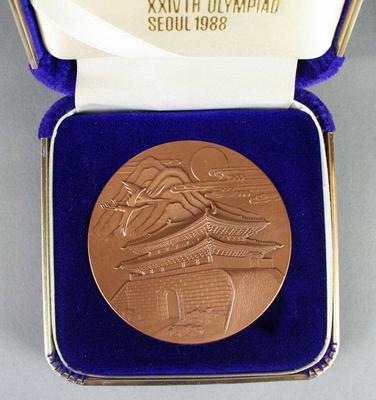 Presentation box, 1988 Seoul Olympic Games medallion