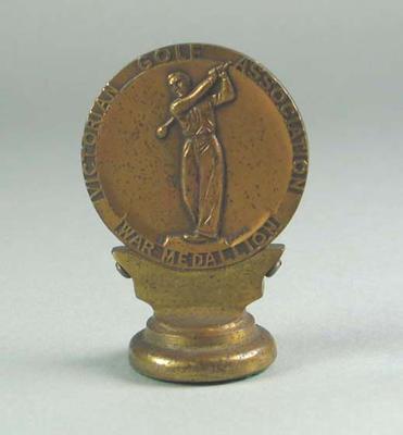 """Victorian Golf Association War Medallion"""