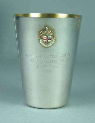 Trophy, Melbourne Amateur Regatta Yarra Challenge Cup & Silver Sculls 1986 Winner
