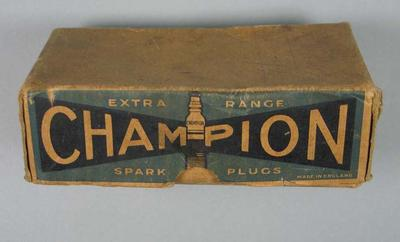 Box - Champion Extra Range Spark Plugs - part of the Bob Pearson collection