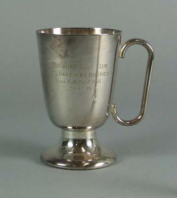 Trophy, Torquay Golf Club Four Best Ball 1935