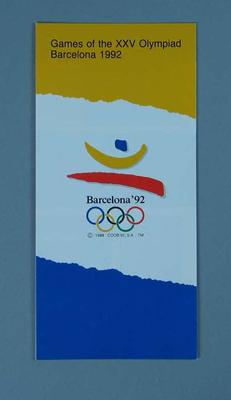 pamphlet - Games of the XXV Olympiad Barcelona 1992