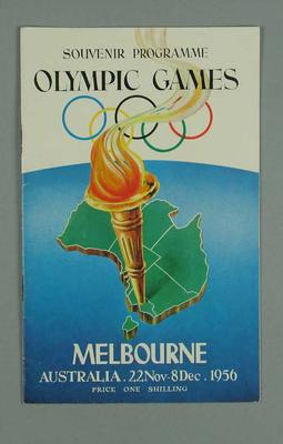 Programme, 1956 Melbourne Olympic Games; Documents and books; 1996.3153.18